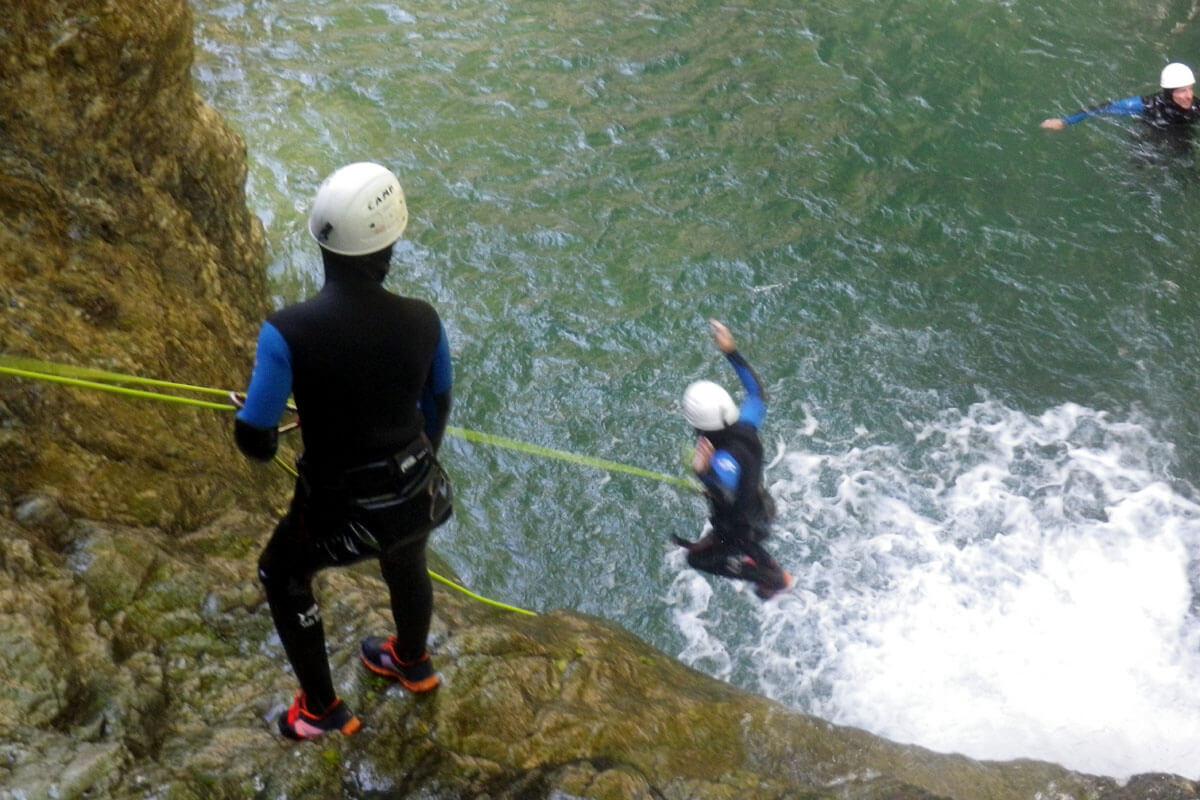canyon Bious saut ou rappel ejectable
