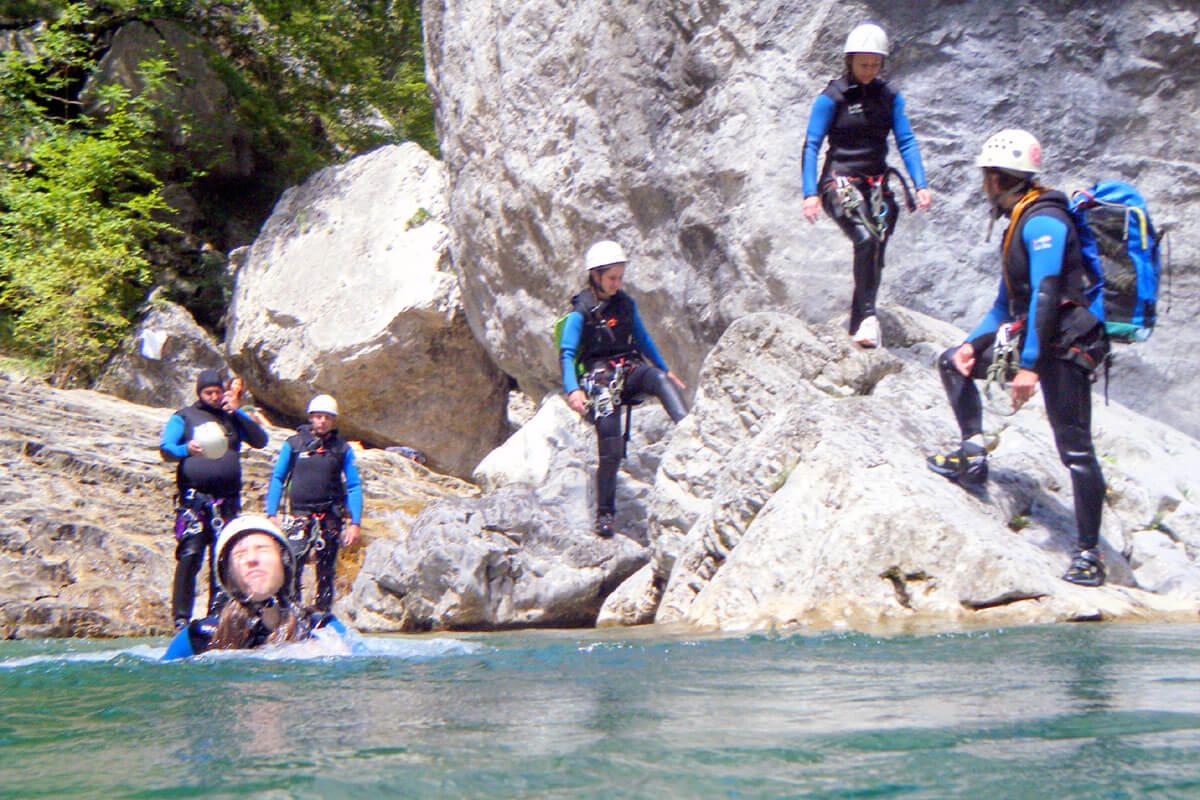 canyon Escuain vasque et petit saut
