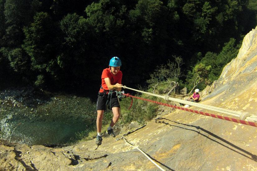 passage vertical sur la via corda